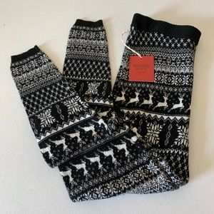 NWT Mossimo Black & White Winter Leggings Size S
